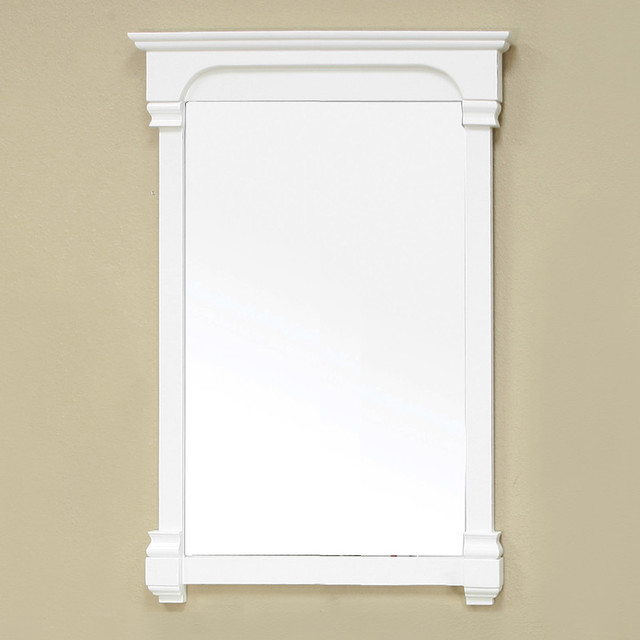 Bellaterra Home Cream White 24-inch Mirror contemporary-bathroom-mirrors