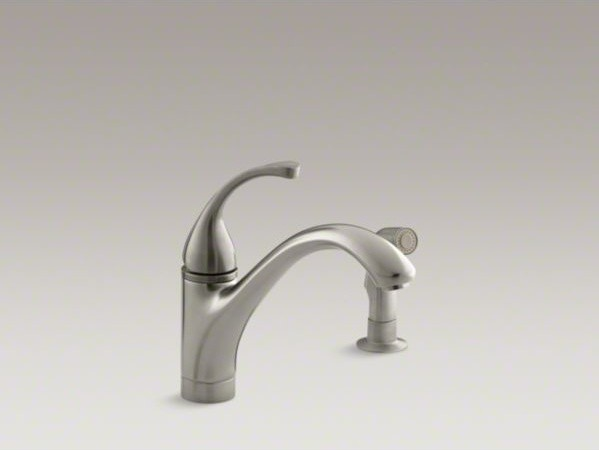 "KOHLER Fort�(R) 2-hole kitchen sink faucet with 9-1/16"" spout, matching finish s contemporary-kitchen-sinks"