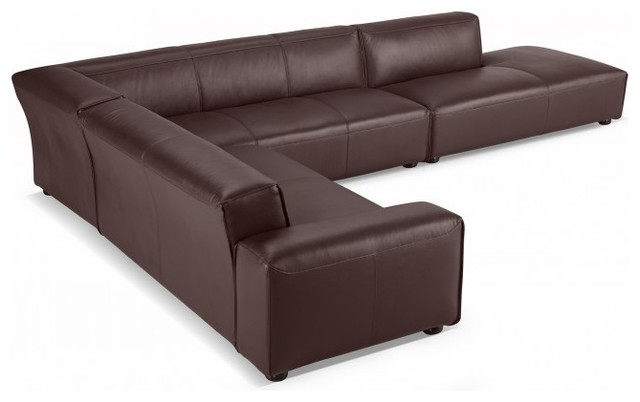 Crawford leather sectional by interior define modern for Sectional sofa definition