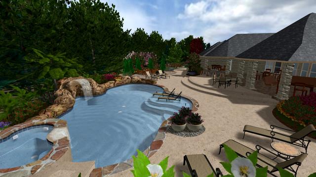 MADUBUIKE RESIDENCE-BACKYARD 3D DESIGN mediterranean-rendering