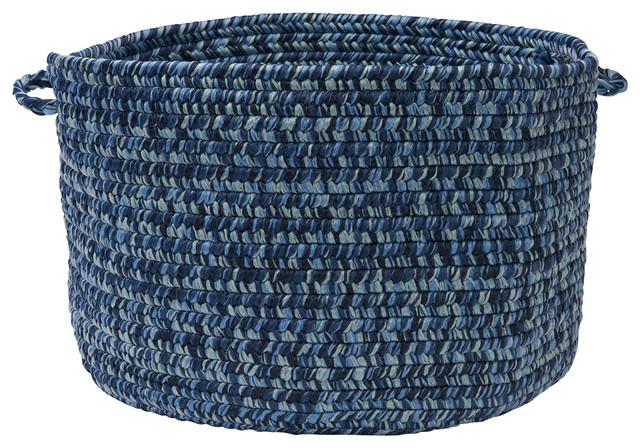 "Catalina, Blue Wave Utility Basket, 18""X12"" contemporary-baskets"