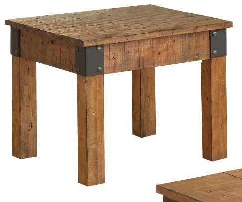 End Table Rustic Oak By Coaster Rustic Side Tables