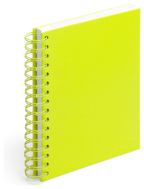 Spiral Notebook Lime Green Medium Modern Desk