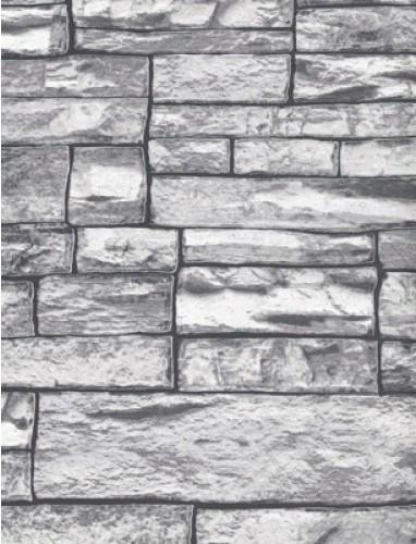 grey brick wallpaper double roll contemporary