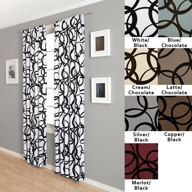 Nirvano Rod Pocket 96-inch Curtain Panel contemporary-curtains