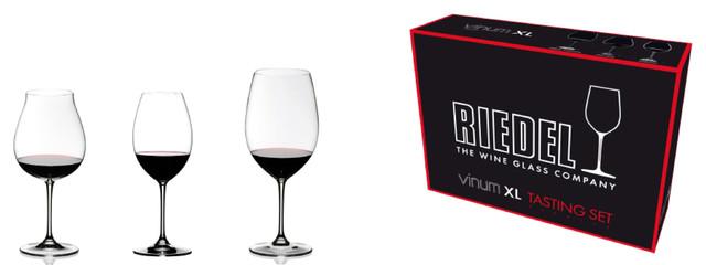 Vinum XL Red Wine Tasting Set of 3 Glasss traditional-wine-glasses