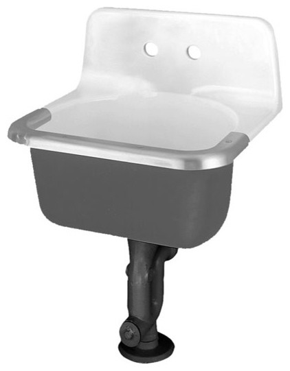 American Standard Akron Enameled Cast Iron Service Sink 8 Centerstand Rim Guard contemporary-utility-sinks