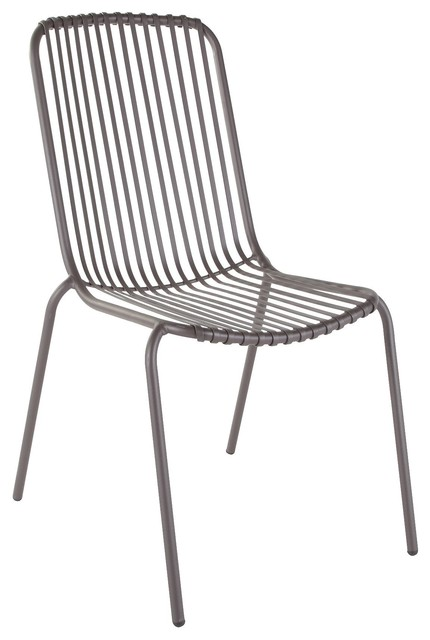 Silene metal chair contemporary garden dining chairs for Modern metal chairs