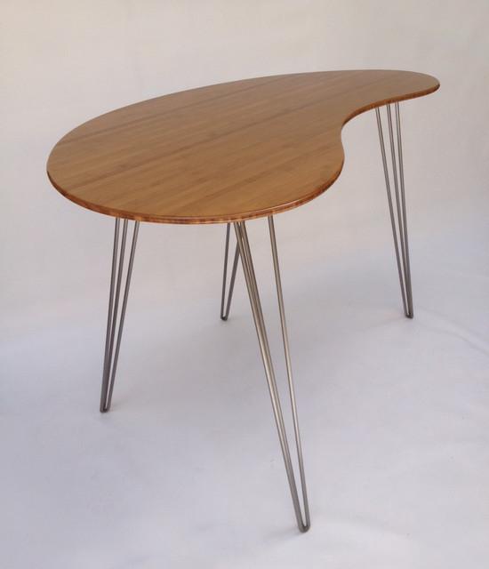 Mid Century Modern Coffee Table Kidney Bean Shaped Atomic: Mid Century Modern Style Standing Desk