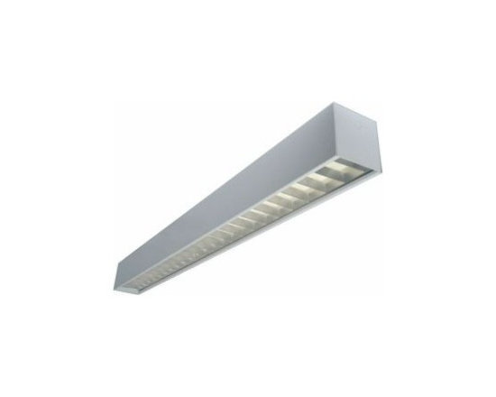 Texas Fluorescents - Texas 4-ft 54W LED Recessed Mount Linear Fixture - Specification grade, modular linear lighting luminaire in a geometric 6 inch shape.For use in indoor applications where individual or continuous lighting is desired for general or perimeter lighting applications.. The 66 Series is available in surface, pendant (suspended), or recessed (see matching wall series). Recessed 66 series are available for T-bar installation without a flange or for flanged construction for sheetrock installation. Pendant and surface mount configurations allow direct light only, indirect light only or direct light with uplight through slots. Pendant mounted fixtures can be used with cable kits or rigid stem kits specified separately. Surface and pendant fixtures can be painted in a variety of finishes for the right look for your application.