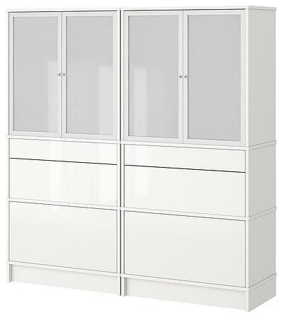 EFFEKTIV Storage combination w glass-doors - Scandinavian - Accent Chests And Cabinets - by IKEA