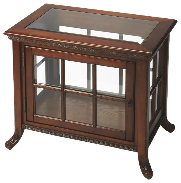 Chopin Vintage Oak Side Chair Curio Transitional Coffee Tables By Butler Specialty Company
