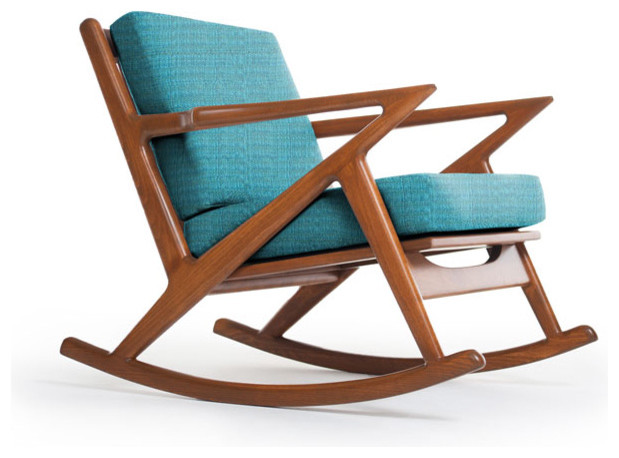 Kennedy Rocking Chair Lucky Turquoise Modern
