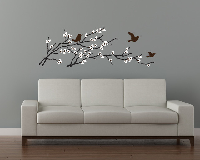 Birds & Blossoms Branch Decal contemporary-wall-decals