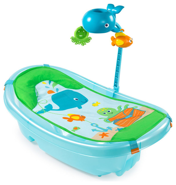 ocean buddies newborn to toddler bath tub with toy bar babies r us australia. Black Bedroom Furniture Sets. Home Design Ideas