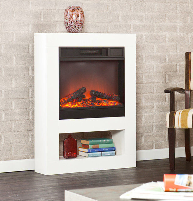 mofta electric fireplace mantel package in white fa7556
