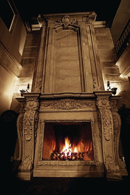 Aged Stone Fireplaces Traditional Fireplaces