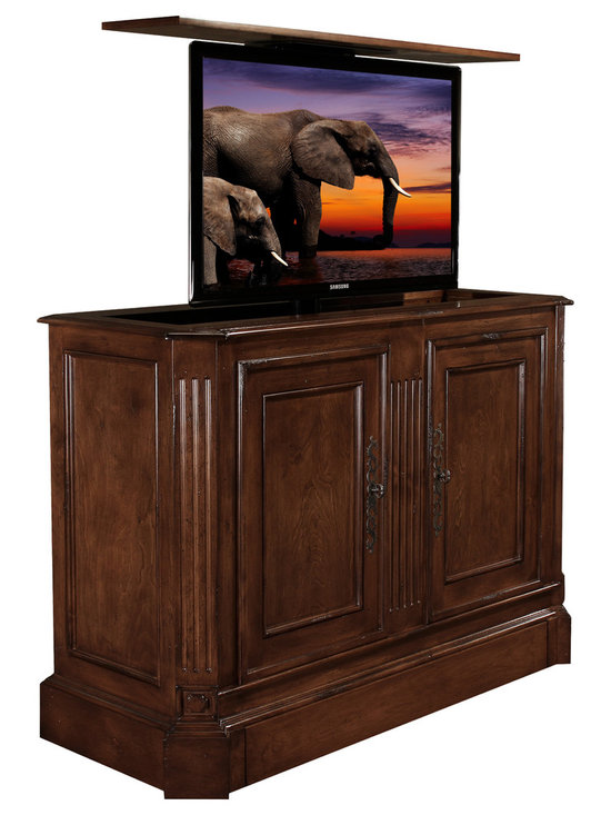 tv lift cabinets traditional and transitional tv lift. Black Bedroom Furniture Sets. Home Design Ideas