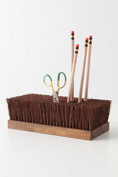 Besom Holder eclectic desk accessories