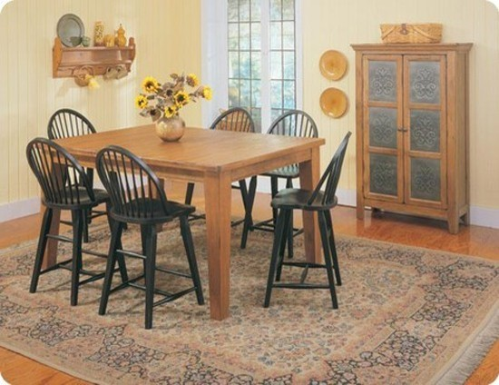 Counter Table In Natural Oak Stain 5397 22 Traditional Dining Tables