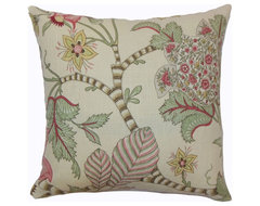 Elodie Floral Pillow Pastel traditional-pillows