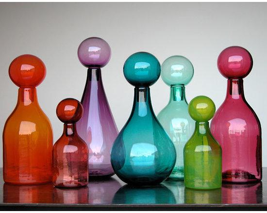 Elizabeth Lyons Glass Jewel Tone Jar Collection -