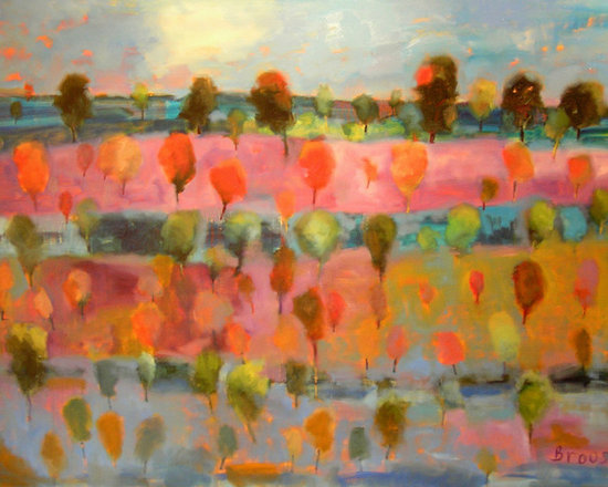 Living Room - 36 x 48 oil on canvas from my Orchard Series 2014
