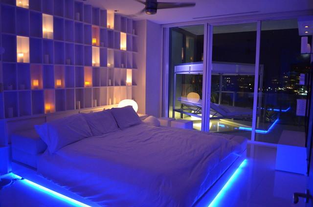 Apogee South Beach Contemporary Bedroom Miami By