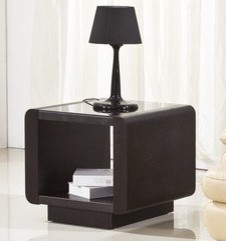 Jenny Smoke Glass & Espresso Side Table contemporary-side-tables-and-end-tables