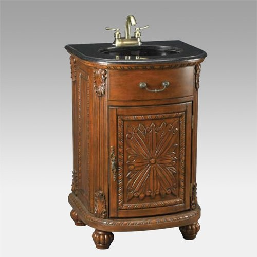 Morne Single Sink Bathroom Vanity traditional bathroom vanities and sink consoles