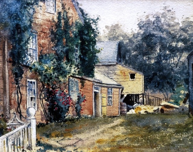 "Frederick Childe Hassam Old House, Nantucket - 16"" x 20"" Premium Archival Print traditional-artwork"