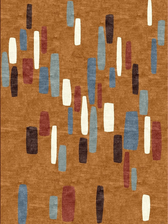 Pathstones Earth Rug - 100% Tibetan Wool, hand-knotted at 100 knots per inch,