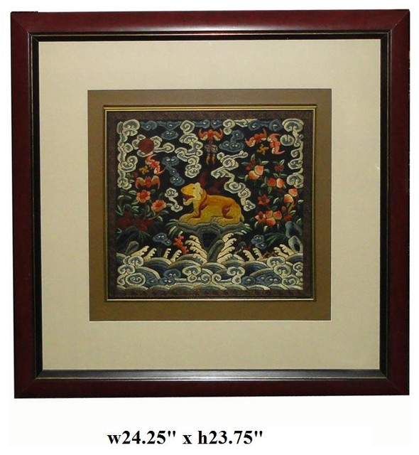 Chinese Framed Embroidery Animal Wall Decor