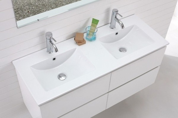 Basin Wall Hung White Vanity - Modern - Bathroom Vanity Units & Sink ...