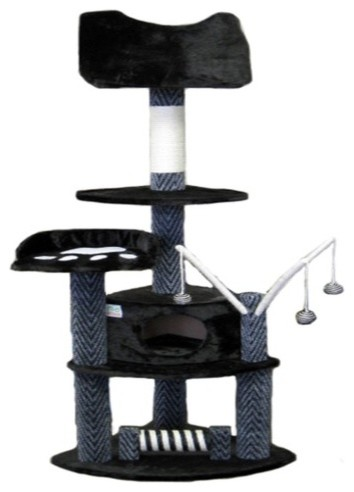 62 quot cat tree in grey modern cat furniture by wayfair