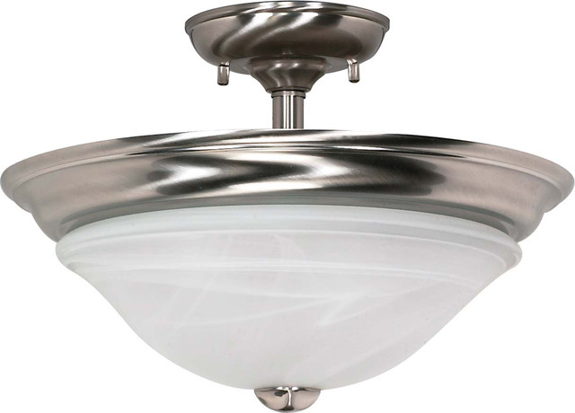"Nuvo Lighting 60-589 Triumph 2-Light 16"" Semi-Flush with Sculptured Glass Shade transitional-flush-mount-ceiling-lighting"