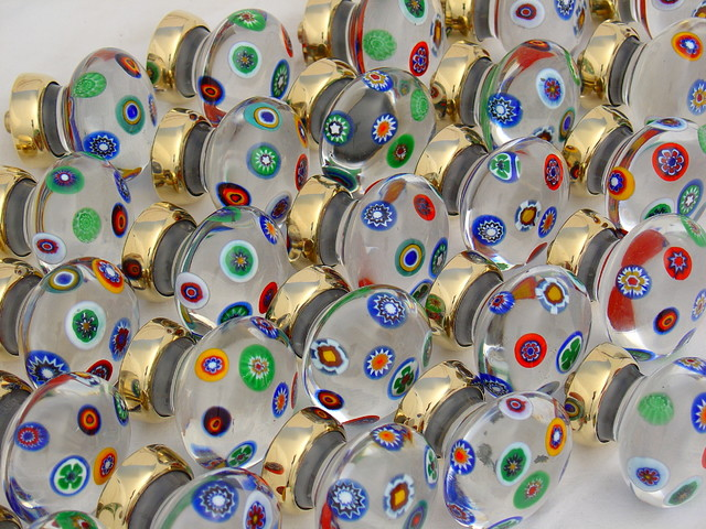 Millefiori glass knobs - Contemporary - Cabinet And Drawer ...