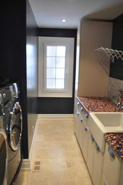Oakville Home Renovation traditional-laundry-room