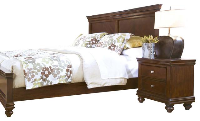 Standard furniture essex 2 piece panel bedroom set in rich for Bedroom furniture essex