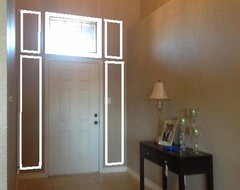 After - Transom Window and Wall Molding interior-elevation
