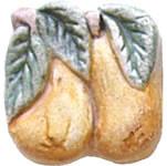 Hand Painted Ceramic Tile Gourmet Garden Pear