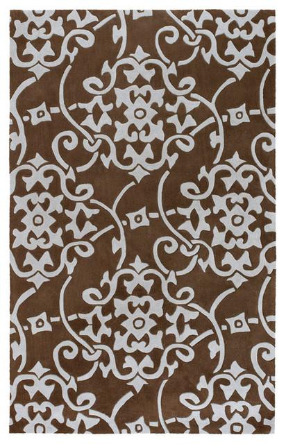 Surya Cosmopolitan Dark Brown Rectangle Area Rug contemporary-rugs