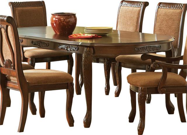 Steve Silver Harmony Oval Dining Table In Dark Oak