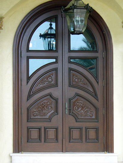 Mahogany Carved Wood Doors Tropical Front Doors By