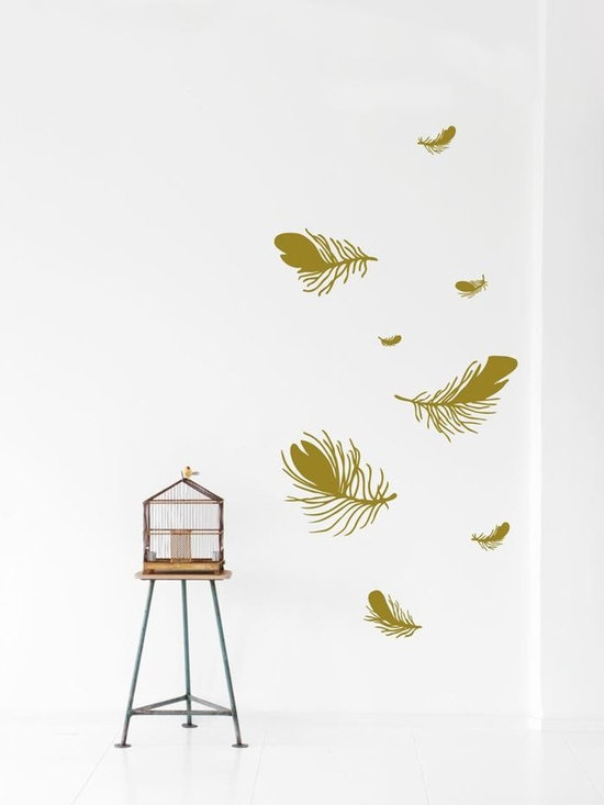 Ferm Living Feather WallSticker - With Ferm Living WallStickers it is easy to create a new look and change the style in a room in a matter of minutes. By using WallStickers, your kids can also help decorate their own room in an array of colors.