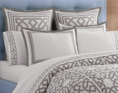 Jonathan Adler Bedding Parish Gray Duvet Cover Or Set contemporary duvet covers