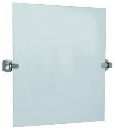 Millbridge Square Pivot Mirror, Chrome Plated modern-bathroom-mirrors
