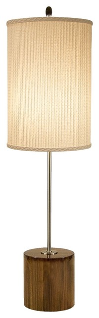Asian Thumprints Acacia with Ivory Shade Table Lamp modern-table-lamps