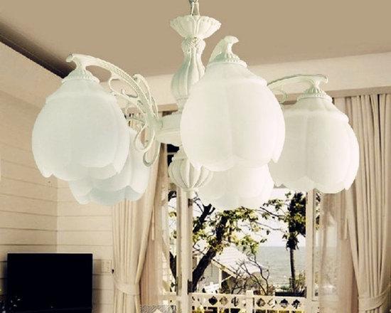 High Quality 5-Light Bulb Pendant Lamp Zinc Alloy Finish - Suitable for Restaurant , Living room, Bedroom, Hallway.etc.