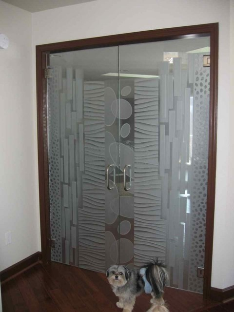 Interior Glass Doors With Obscure Frosted Glass Designs Nokes Modern Bedroom Other Metro